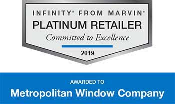 Infinity from Marvin Platinum Retailer Award 2017 | Metropolitan Window Company | Pittsburgh, PA